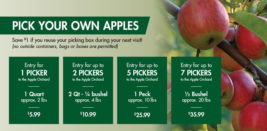 Apple picking at Linvilla - Pricing