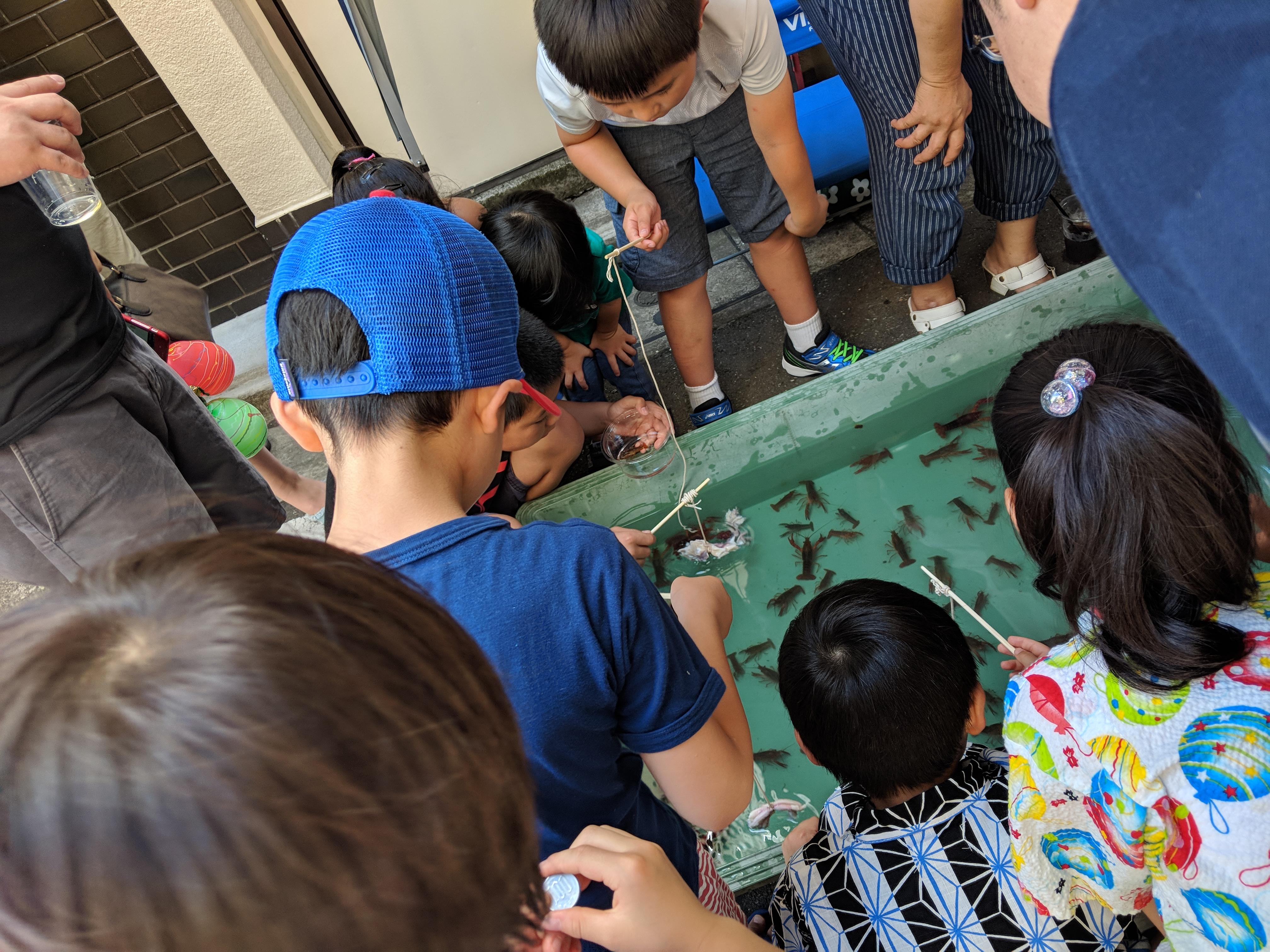 Tanabata Matsuri - Catching crayfish