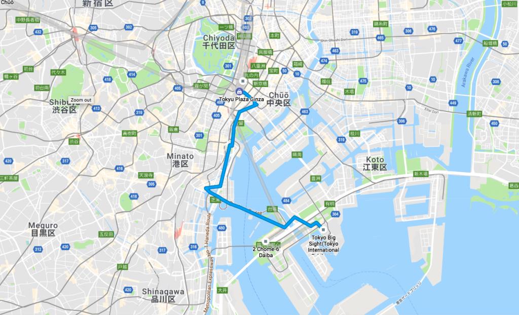 Walking Tokyo: Odaiba and Rainbow Bridge Route