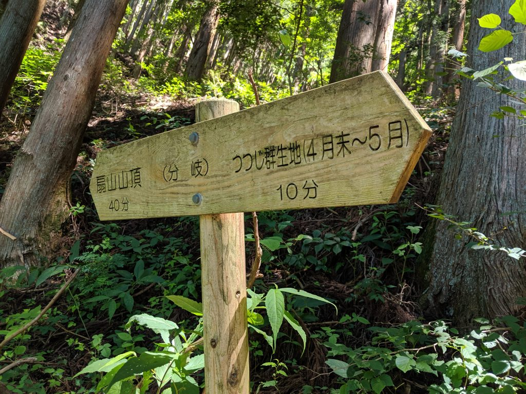 Hiking Japan: Ougiyama - Go left at this sign