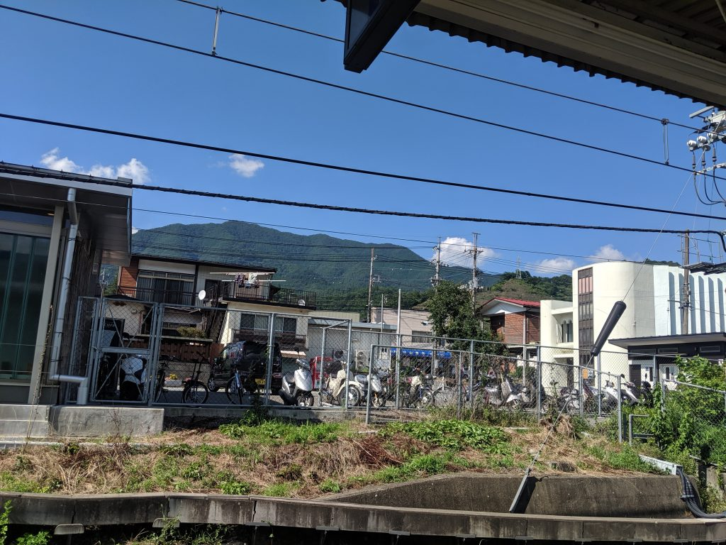 Hiking Japan: Ougiyama - View of Ougiyama summit from Torisawa station