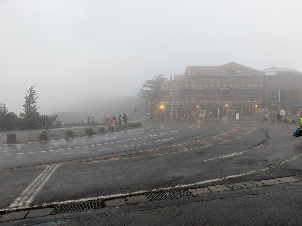 Weather is pretty fickle at Fuji-Subaru Line 5th Station