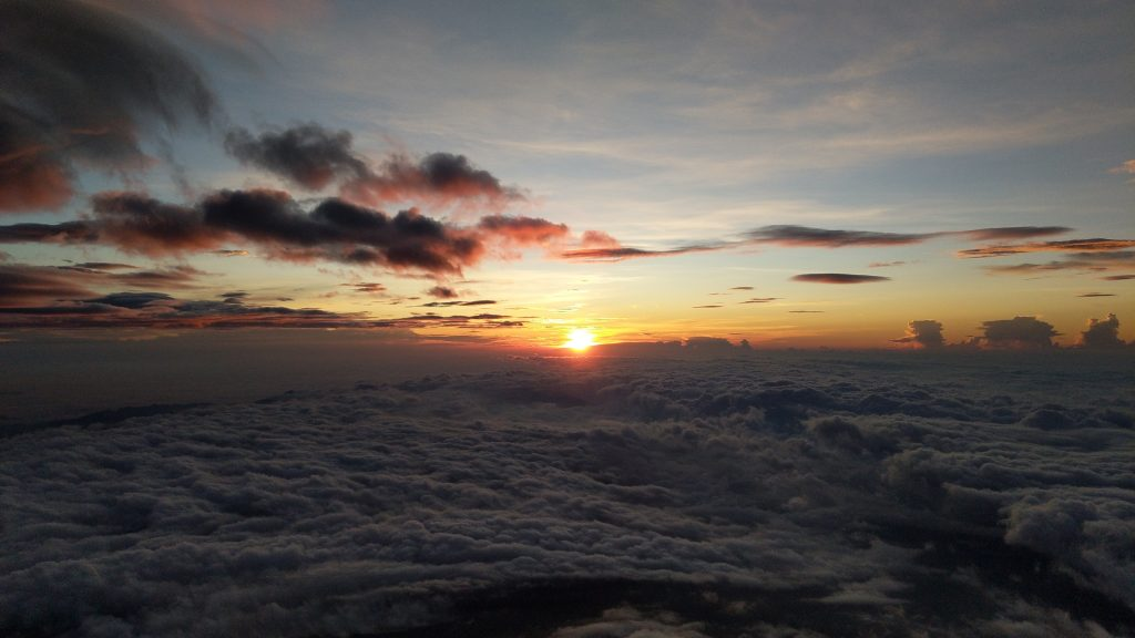 Sunrise from the summit of Fujisan