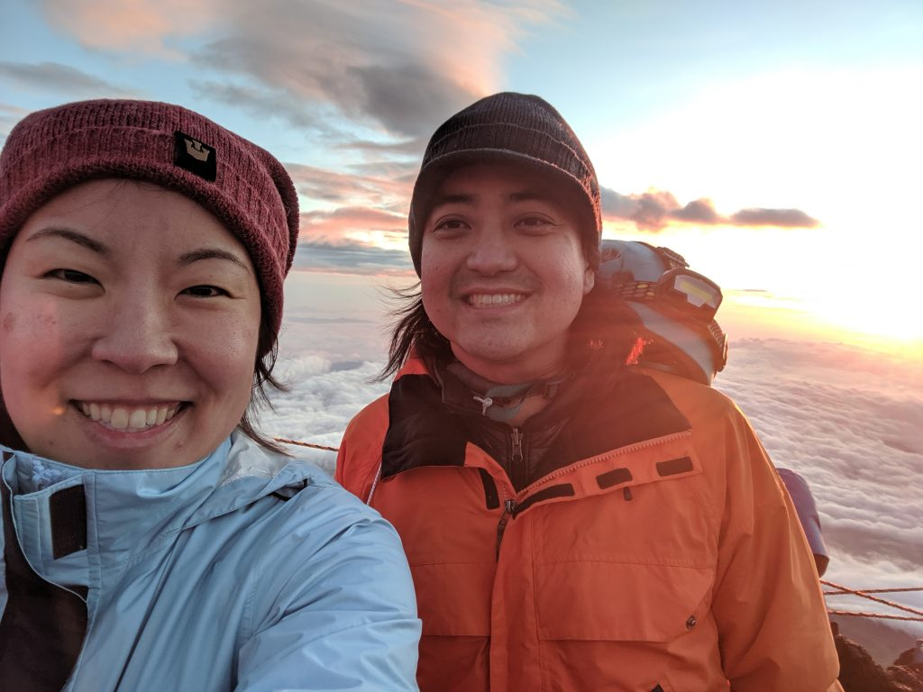 Sara and Ryan sunrise selfie