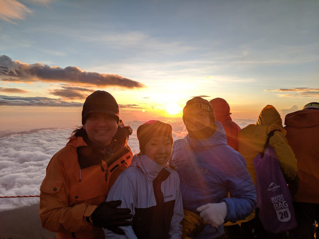 Group sunrise photo