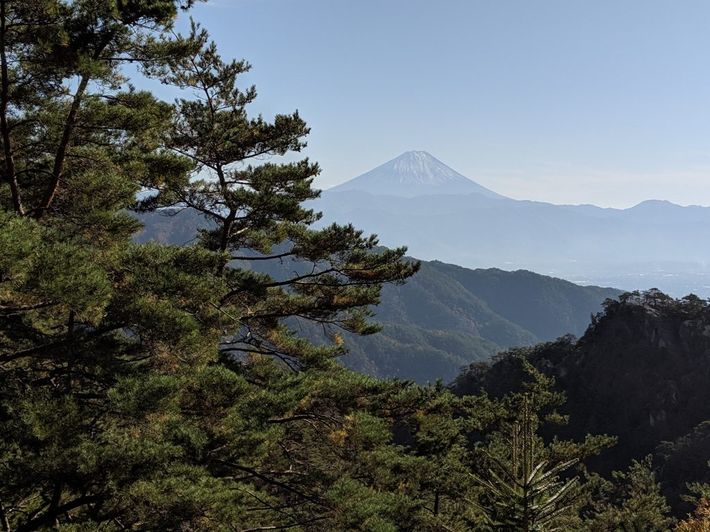 View of Mount Fuji from Mount Rakanjiyama