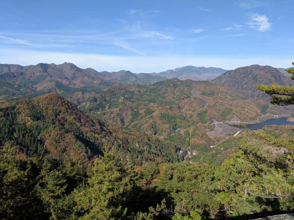 Arakawa Dam from atop Mount Rakanji (Rakanjiyama)
