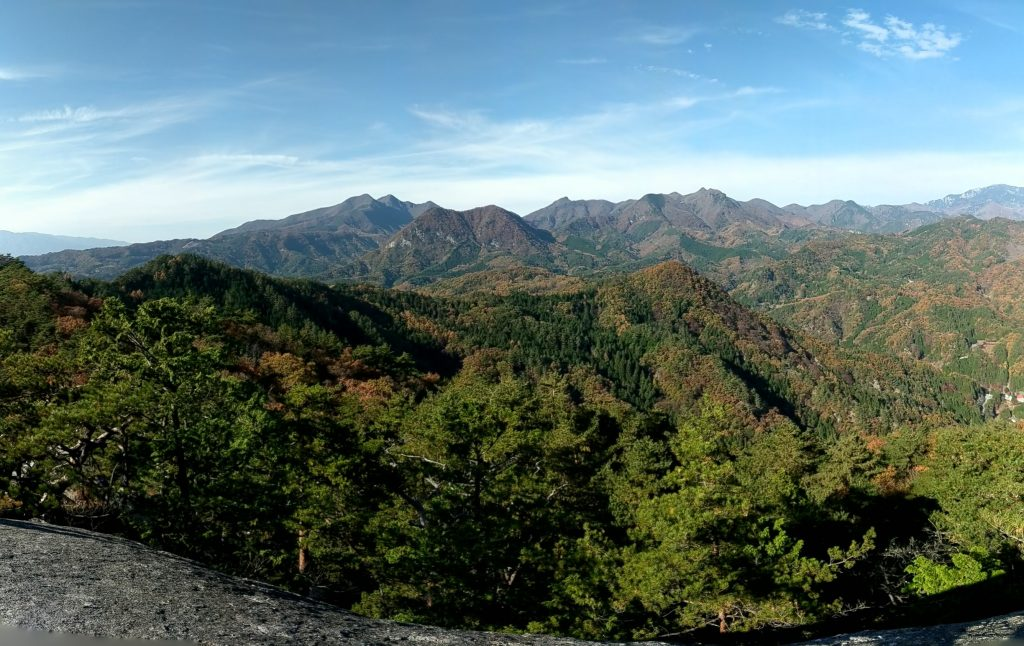 Chichibu mountains from atop Mount Rakanji (Rakanjiyama).